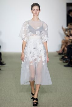Giambattista Valli B&W Florals Transparent Fabrics Boxy Silhouettes