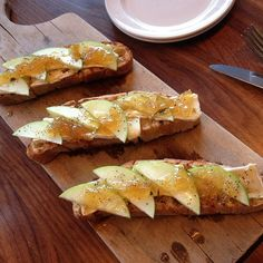 Brie, Green Apple, and Onion Jam on Grilled Ciabatta #FoundingFarmers #cheese (Photo Credit @nanagxx)