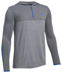 Under Armour Threadborne Siro 1/4-Zip Pullover for Boys - Graphite/Ultra Blue - XS