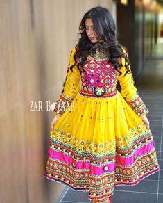 Pink and yellow afghani dress Pink Bridal Lehenga, Afghani Clothes, Indian Fashion Dresses, Cotton Anarkali, Afghan Girl, Rajputi Dress, Afghan Dresses, Stylish Dresses, Traditional Dresses