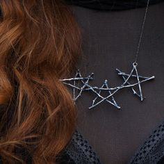The Woodland Triple Pentagram Necklace // Silva by UnusualOptical