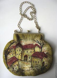 "art bag ""houses"" by Galina Goncharova"