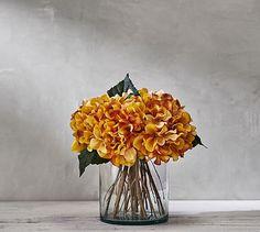 Amber Hydrangea Arrangement #potterybarn