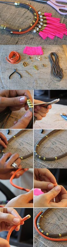 New tips on diy fashion accessories Diy Schmuck, Schmuck Design, Jewelry Crafts, Handmade Jewelry, Jewelry Ideas, Diy Collier, Diy Fashion Accessories, Bijoux Diy, Diy Necklace