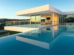 spaces 42 portugal, algarve property minimalist portugese clifftop villa