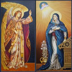 Diptych set of the annunciation.
