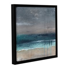 ArtWall Linda Woods's Beach V Gallery Wrapped Floater-framed Canvas