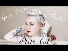 Special Occasion & Bridal Pixie Cut Hairstyles ✨ How to Curl a Pixie Cut - YouTube