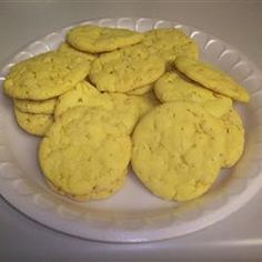 Crisp Little Lemon Cookies, recipe doesn't call for but I also sprinkle powder sugar on them right out of the oven.