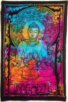 Buddha tie dye wall hanging #IndiOdyssey #Hippie