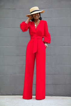 Style pantry button-down wide leg jumpsuit Red Jumpsuit, Jumpsuit Outfit, Jumpsuit Style, Dress Outfits, Day Jumpsuits, Jumpsuits For Women, Jumpsuits For Weddings, Fashion Jumpsuits, Classy Dress