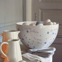 Un saladier peint du0027étoiles & Bird mugs by Marie Claire | addicted to dishes | Pinterest | Marie ...