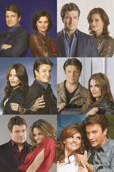 ♥ Castle remains the same , but Kate changes her hair every season!!!