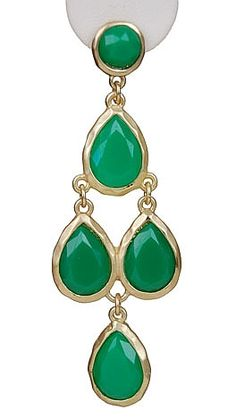 Emerald Green Earrings Angelina Jolie Earrings Gold Dark