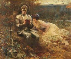 The Temptation of Sir Percival by Arthur Hacker   Leeds Museums and Galleries Date painted: c.1894