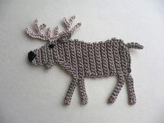 Newest Cost-Free Crochet animals moose Ideas Hirsch – Elch – Häkelapplikation Crochet Bee, Crochet Motif, Double Crochet, Crochet Flowers, Easy Crochet, Crochet Toys, Free Crochet, Crochet Applique Patterns Free, Crochet Blocks