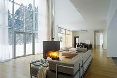"""Архитектурное бюро Шаболовка - дизайн интерьера загородного дома """"Do House""""."""