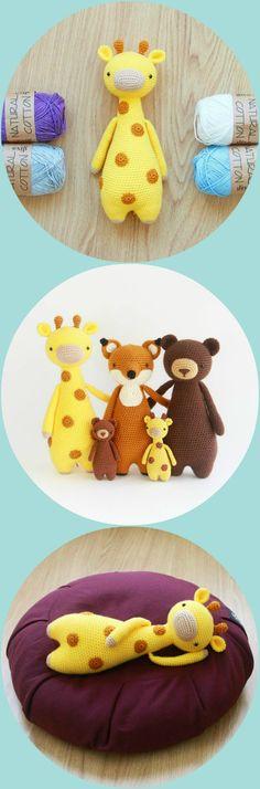 Giraffe Pattern by Little Bear crochets #amigurumi #littlebearcrochets