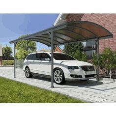 "9' 6"" X 16' 4"" Vitoria Steel Carport W/ Polycarbonate Panels"