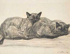 Théophile-Alexandre Steinlen  Two Cats Sleeping  1920