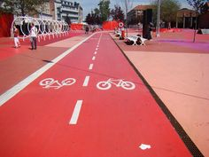 Cycle Lane in Copenhagen, Denmark. Image by Clan Ginty.