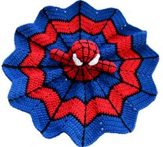 Super Hero Spider Lovey crochet pattern. Great baby shower gift to crochet! Cute Amigurumi blanket your special little one will love!  This super hero lovey crochet pattern is fun and inexpensive to make! The bright colors are sure to appeal to your little super hero!  Materials Needed: - Worsted Weight Yarn (About 150 Yards each of red, black and white) - Crochet Hook Size H - Fiberfill - Tapestry Needle  Yarn weight and gauge does not need to be exact, just adjust hook size for your chosen…