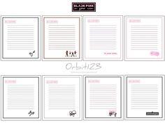 Cute School Supplies, Bt 21, Notebook, Bullet Journal, Seo, Lisa, Kawaii, Cute Stickers, Blue Prints