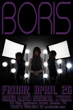 April 26 @ Rubber Gloves Rehearsal Studios - Boris