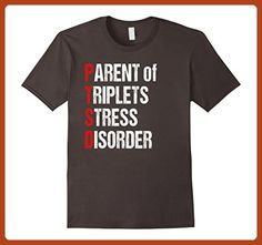 Mens Parent of Triplets T-shirt for Triplets Mom Triplets Dad  XL Asphalt - Relatives and family shirts (*Partner-Link)