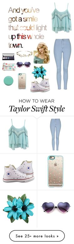 """""""Dreamin bout the day when you wake up and find that what you're looking for had been HERE THE WHOLE TIME!"""" by lovelywonderstruck13 on Polyvore featuring Topshop, Converse, Casetify, Cult Gaia and Jin Soon Taylor Swift Outfits, Taylor Swift Style, Casual Outfits, Cute Outfits, Drawing Clothes, Celebrity Outfits, New Wardrobe, Gaia, Polyvore Outfits"""