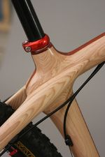 'Tough as hickory' is more than just a phrase.  A wood frame Mtn. Bike. Renewable innovation from Portlandia.