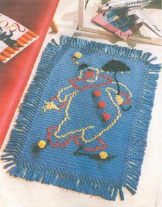 Tapetes em Croche on Pinterest Crochet Rugs, Rugs and Trapillo