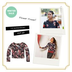 Flower Power!  Shop Ivy Sweatshirt here: http://bit.ly/ivy-shirt