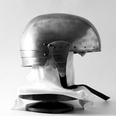 Landsknecht skullcap (circa 1510) made by raising a polished only with files, sandstones and pumice stone.
