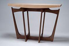 cirrus2 hall/entry table - black walnut, tiger maple, blackwood - Eben Blaney Furniture