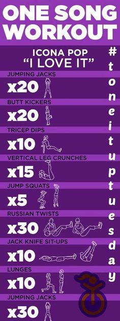 We LOVE it. This awesome #toneituptuesday workout that is. Matched to one of our favorite tunes! #PrettyMuddy