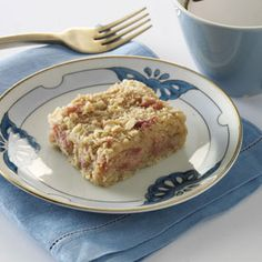 Rhubarb Cheesecake Squares  Need to try this spring!