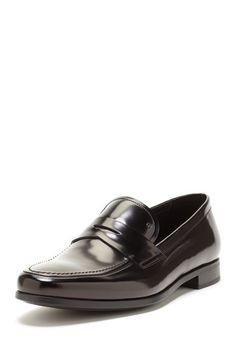 Giorgio Armani Leather Penny Loafer