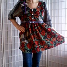 28  Shabby Chic Lolita Bold UpCycled Women's Teens by ArtzWear