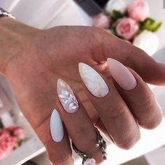 wedding nails \ wedding nails for bride . wedding nails for bride acrylic . wedding nails for bride classy . wedding nails for bride gel . wedding nails for bride bridal Cute Acrylic Nails, Fun Nails, Classy Gel Nails, Classy Nail Art, Classy Nail Designs, Nail Designs Spring, Simple Nails, Glitter Nails, Water Nails