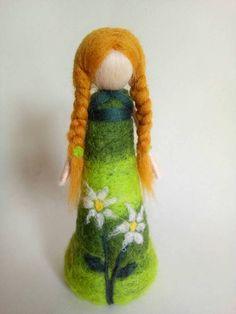 Spring Fairy, Felt Fairy, Nature Table, Origami, Fairy Art, Dried Flowers, Needle Felting, Hand Stitching, Art Dolls