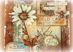 Paper Art Projects, Diy Projects To Try, Paper Crafts, Nest Images, Speckled Eggs, Distress Oxide Ink, Old Paper, Paint Pens, Art Journal Inspiration