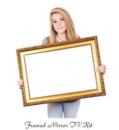 framed mirror tv kit