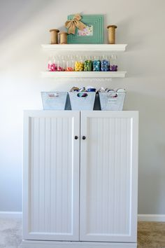 Room Tour Sewing Cabinet in the most amazing craft room ever. Lots of Craft Room storage ideas on Sewing Cabinet in the most amazing craft room ever. Lots of Craft Room storage ideas on Craft Room Storage, Craft Organization, Storage Ideas, Craft Rooms, Craft Cabinet, Sewing Cabinet, Cabinet Storage, Sewing Box, Sewing Ideas