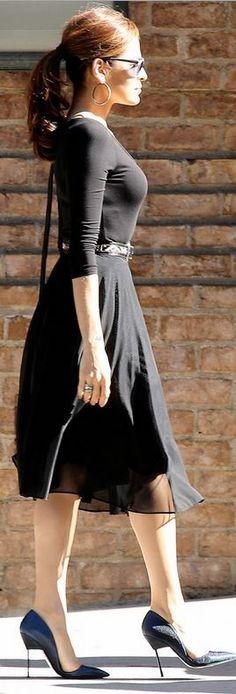 Eva Mendes' lady like style