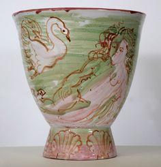 Vase aux baigneuses et cygnes de Dufy