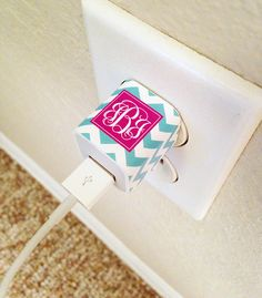 Free phone/iPad mini charger stickers are the perfect way to add a unique touch to your charger! Now available in chevron print