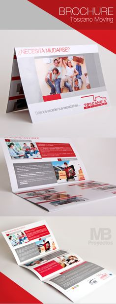 Brochure Toscano Moving by MB Proyectos, via Behance