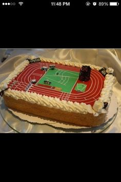 Track and field cake