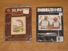 New Cross Stitch Lot Vintage Dimensions + Sunset The Greatest Catch Fisherman #Dimensions #crossstitch